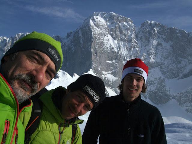 Ennio Spiranelli, Yuri Parimbelli e Tito Arosio, vincitori del Premio Alpinistico Marco e Sergio Dalla Longa 2011,