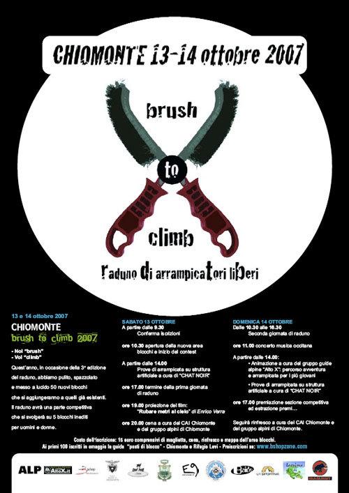"""Il 13 e 14/10 a Chiomonte (TO, Val di Susa) si svolgerà la terza edizione del raduno boulder all'insegna del """"Brush to climb"""" aperto a tutti gli arrampicatori liberi. , Planetmountain.com"""