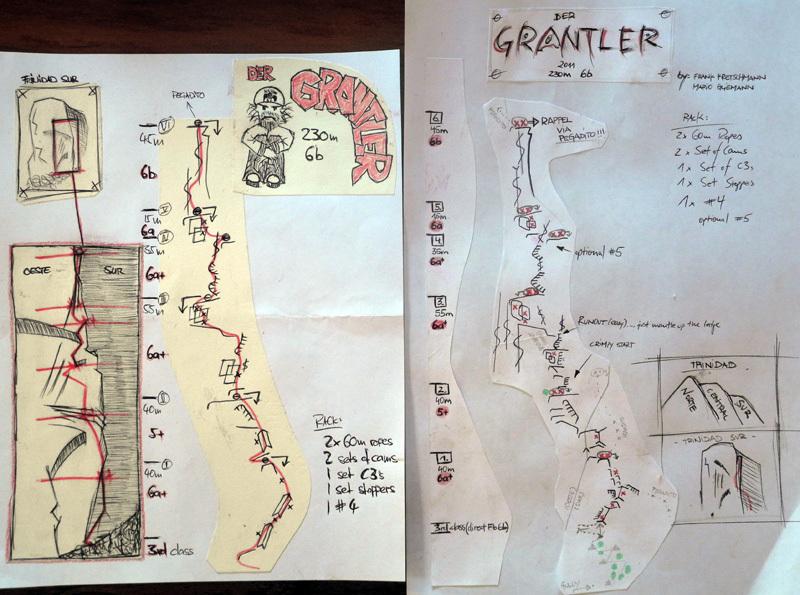 Der Grantler (230m, 6b, Frank Kretschmann & Mario Gliemann 08/02/2011) Cerro Trinidad Sur, Valle Cochamo, Cile , Frank Kretschmann