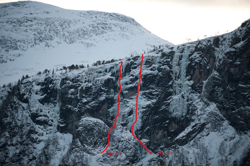 Eresfjord 12. Sea Gull Jonathan (WI6 250m, Papert, Seiwald, Milton 09/02/12) 13. Offshore (WI7 250m, Hauser, Senf, Astner 09/02/12), Thomas Senf