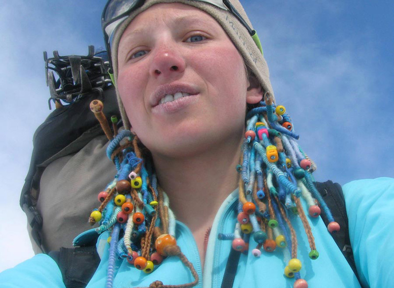 The talented Ukranian mountaineer Maria Khitrikova., Mountain.RU archive