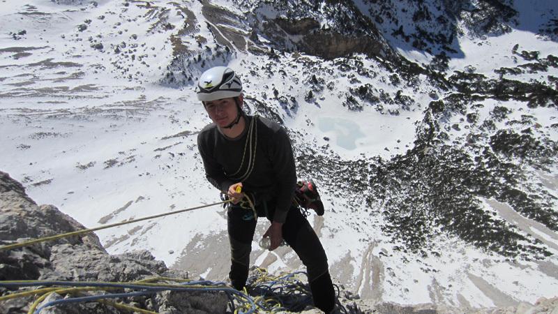 03/2012: Simon Gietl & Daniel Tavernin, Zauberlehling, Cima Scotoni, Dolomiti, archivio Simon Gietl