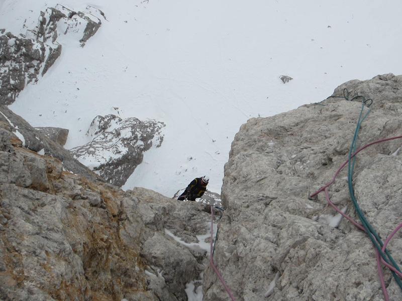01/2012: Simon Gietl & Daniel Tavernin, ISO 2000, Tre Cime di Lavaredo, Dolomiti, archivio Simon Gietl