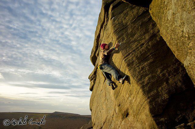 Michele Caminati repeating The Promise at Burbage North, England, Michele Caminati