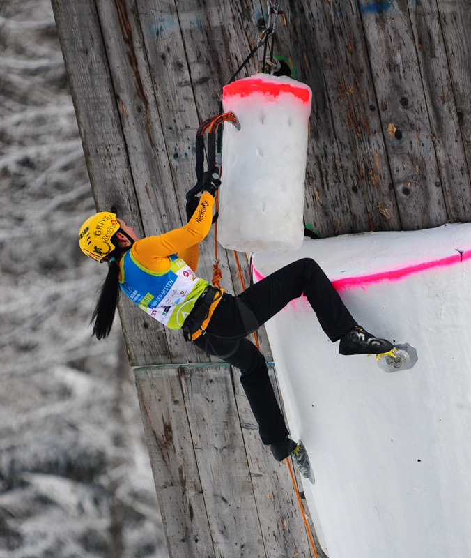 Maria Tolokonina competing in the Marmot Icefight 2012,