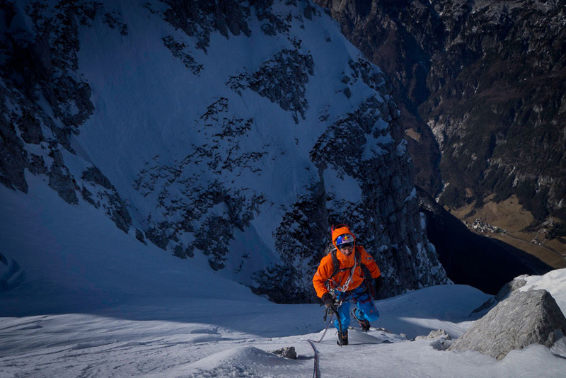 From 25-27/02/2012 David Lama and Peter Ortner established a difficult new route up the North Face of Loska Stena in Slovenia., archivio David Lama