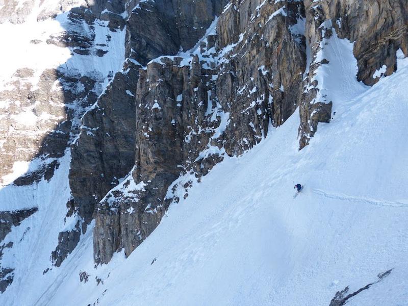 Olov-Isaksson skiing Pointe d'Aufalle Pas de Coppet on 3.3.2012, archivio Sébastien de Sainte Marie