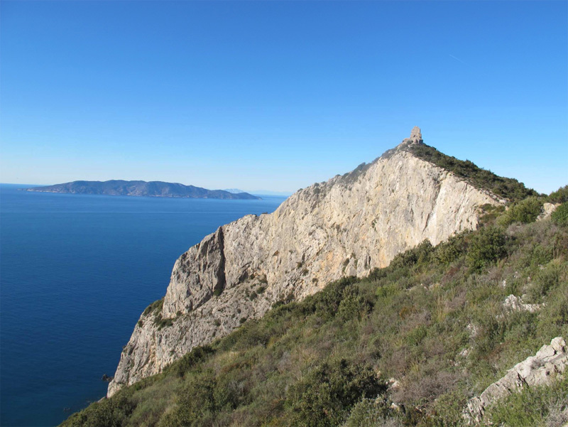 Capo d'Uomo all'Argentario in Tuscany, one of the most beautiful seaside crags in Italy., Eraldo Meraldi