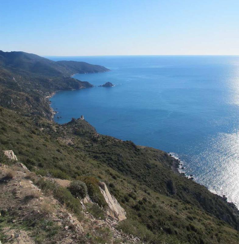 Capo d'Uomo all'Argentario in Toscana, una delle più belle falesie affacciate sul mare d'Italia, Eraldo Meraldi