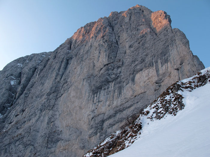 The immaculate north face of Presolana, archivio Maurizio Panseri