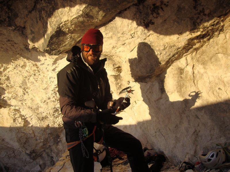 Dal 14 - 16/03/2012 Andrea Di Donato e Bertrand Lamaire hanno salito la via Il nagual e la farfalla sul Paretone al Gran Sasso., archivio Di Donato & Lamaire