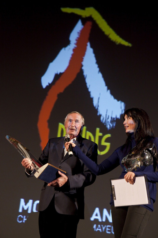 Piolets d'Or 2012: Robert Paragot receiving the