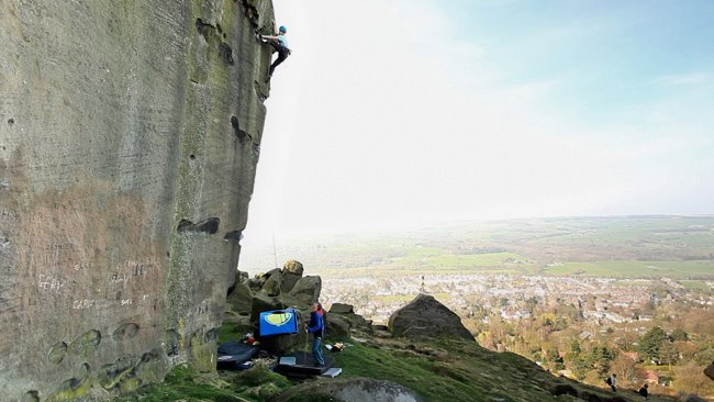 Michele Caminati repeating The New Statesman E8 7at Ilkley Quarry in England., Michele Caminati