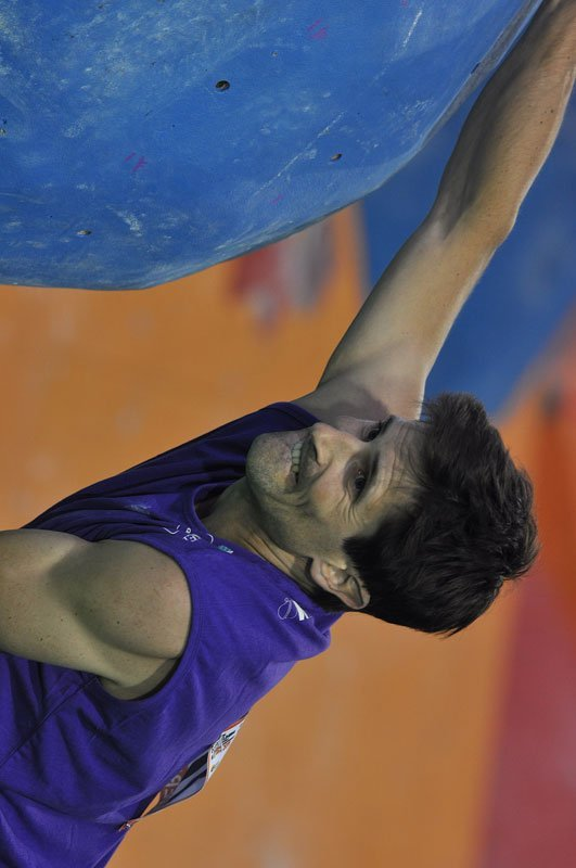 Kilian Fischhuber at the Climbing World Championship 2011 at Arco, Italy, Giulio Malfer