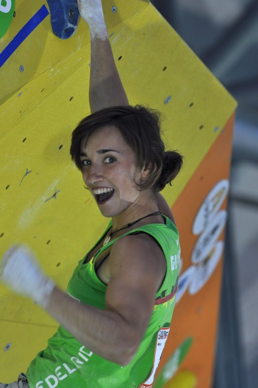 Juliane Wurm at the Climbing World Championship 2011 at Arco, Italy, Giulio Malfer