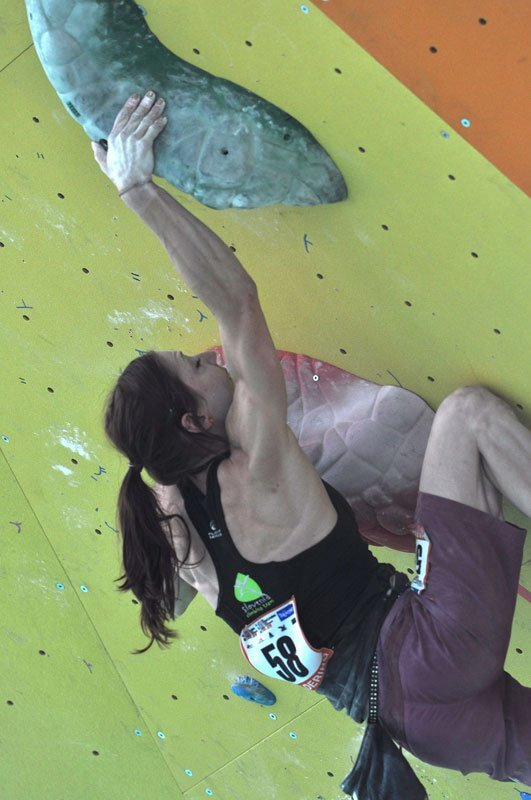 Mina Markovic at the Climbing World Championship 2011 at Arco, Italy, Giulio Malfer