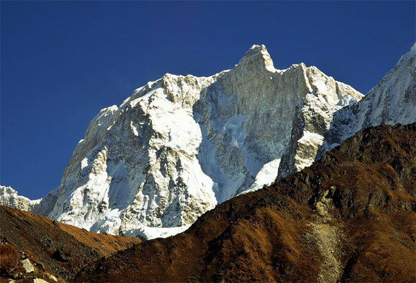 The impressive north face of Jannu (7710m) Nepal, Babanov collection