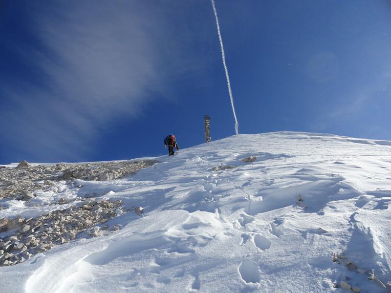 Giorgio Travaglia close to the summit., archivio Giorgio Travaglia