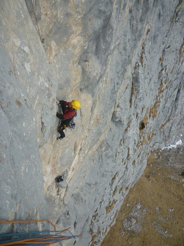 Il 25-26/02/2012 Alessandro Baù e Enrico Geremia hanno effettuato la prima ripetizione, e prima invernale, della via Andamento Lento in Val Scura (Dolomiti)., Alessandro Baù