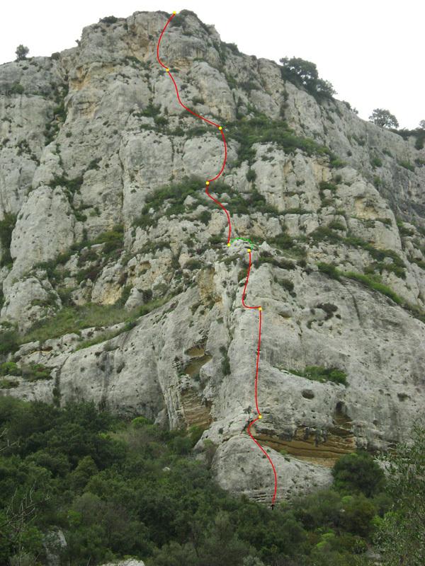 Rosa dei venti (6c+, 210m), Cava Grande del Cassibile, Sicilia,