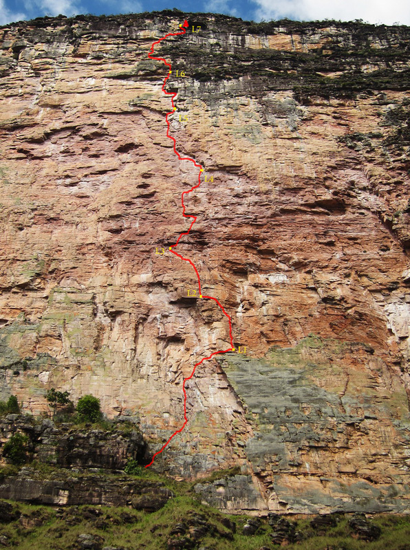 Miss Acopan (7b, 250m), new route in Venezuela by Luka Krajnc and Matic Obid, Luka Krajnc
