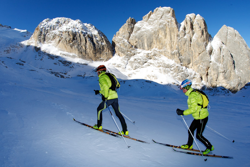 Ascending to the finishing line at Punta Rocca, Marmolada, Zero-3000 Extreme Race