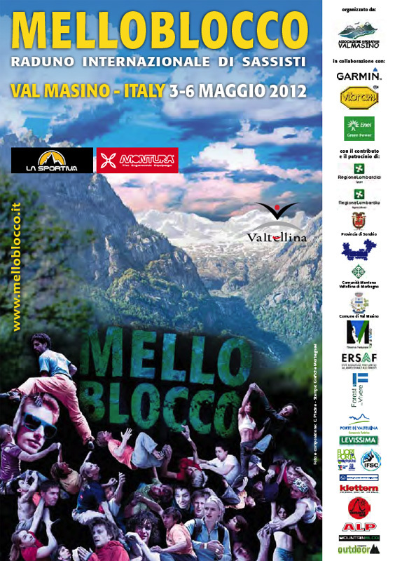 The ninth Melloblocco, the world's most important bouldering meeting, takes place in Val Masino, Sondrio, Italy from 3 – 6 May 2012.,