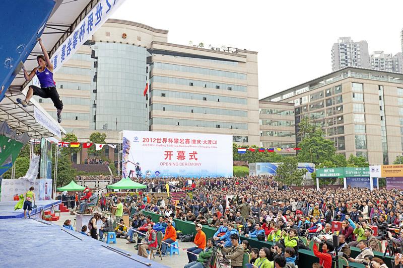 La prima tappa della Coppa del Mondo Boulder 2012 a Chongqing in Cina: Anna Stöhr., ÖWK-Wilhelm