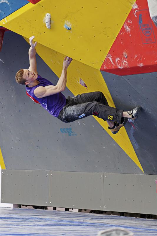 La prima tappa della Coppa del Mondo Boulder 2012 a Chongqing in Cina: Jakob Schubert., ÖWK-Wilhelm