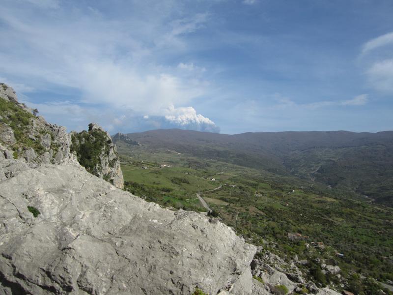 L'eruzione dell'Etna vista da Rocca Calanna, archivio Max Flaccavento