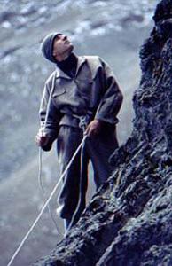 Kenya alpinismo old style: un momento della ricostruzione della storica salita. , Manuel Lugli