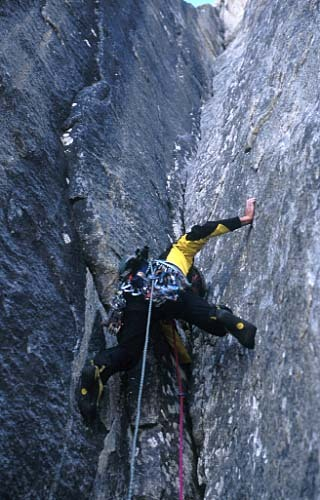 Women and chalk, East Face Shipton Spire, Trango, Pakistan, Fabio Dandri