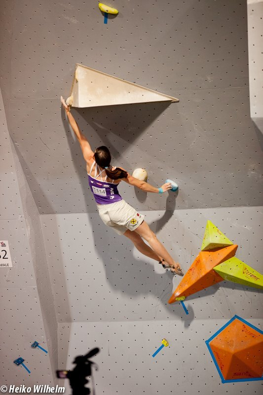 The third stage of the Bouldering World Cup 2012 in Vienna, Austria: Katharina Posch , ÖWK- Heiko Wilhelm