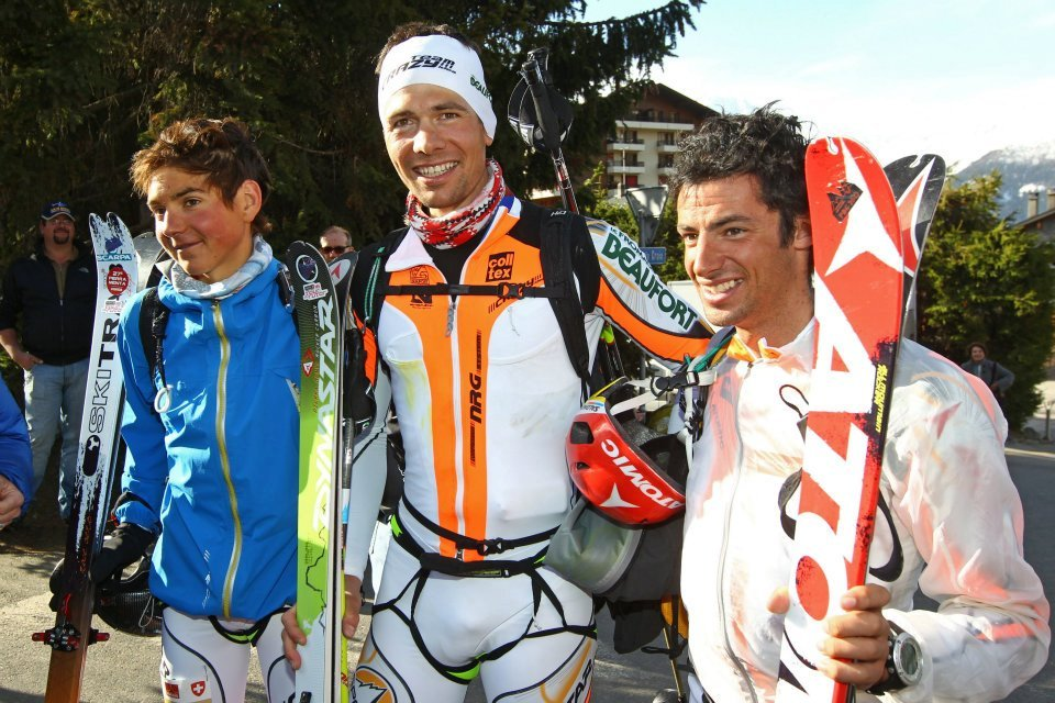 The winners William Bon Mardion – Mathéo Jacquemoud – Kilian Jornet Burgada, Patrouille des Glaciers