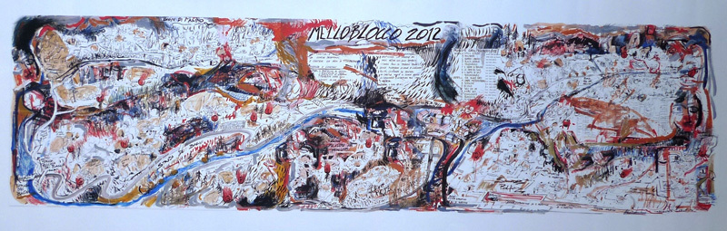 The treasure map of Melloblocco 2012 drawn by Simone Pedeferri., Melloblocco