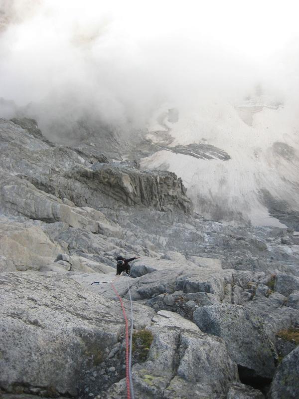 Presanella East Face: G. Paoli on via delle Guide, archivio Francesco Salvaterra