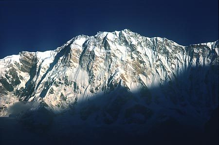 The immense south face of Annapurna, at 8091m, the 10th highest mountain in the world., Loris Marin