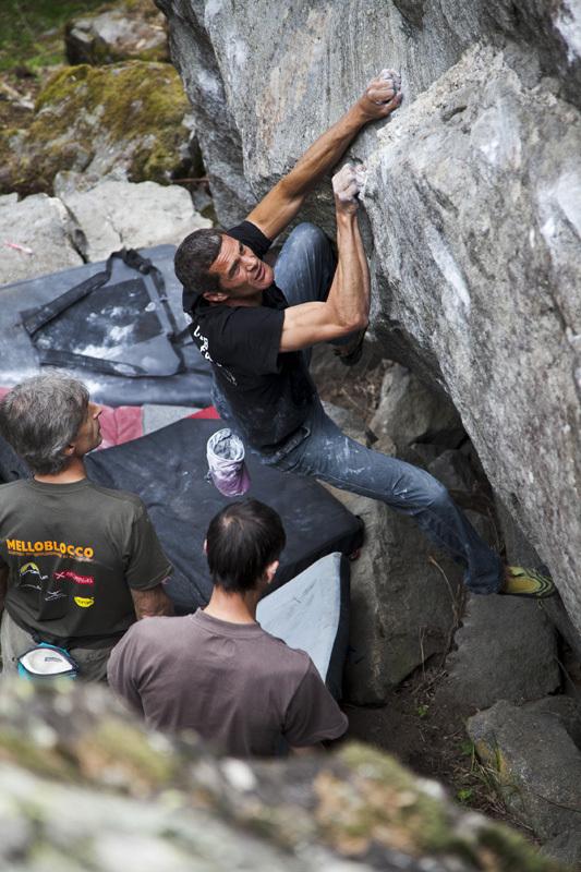 Melloblocco 2012: Pietro dal Prà and Il Baffo di Dalì, Klaus Dell'Orto