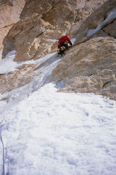 Valery, hard mixed climbing at 7400m, Babanov collection