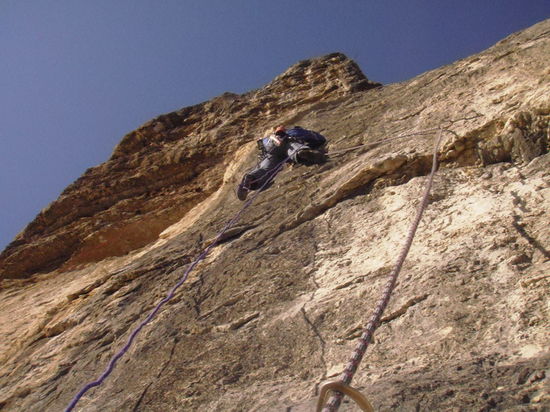 Establishing the 8a pitch X of Le Vrai Plaisir - (Pampers), Piccolo Dain, Valle del Sarca., Gianni Canale