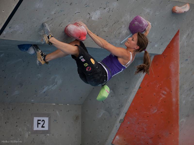 La quarta tappa della at Coppa del Mondo Boulder 2012 a Innsbruck, Austria: Anna Stöhr, ÖWK- Heiko Wilhelm