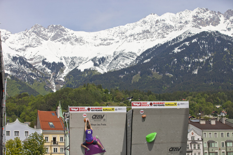 The fourth stage of the Bouldering World Cup 2012 in Innsbruck, Austria: , ÖWK- Heiko Wilhelm