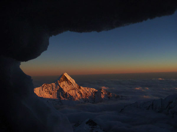 View from bivouac 2, 7200 m., Tomaz Humar