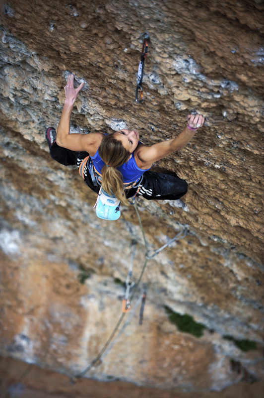 Sasha DiGiulian, Era Bella 9a, Margalef, Spain, Keith Ladzinski