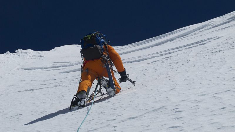 On 17(05/2012 Gerlinde Kaltenbrunner and David Göttler reached the summit of Nuptse (7861m) via the long and difficult North Ridge Scott route., Gerlinde Kaltenbrunner