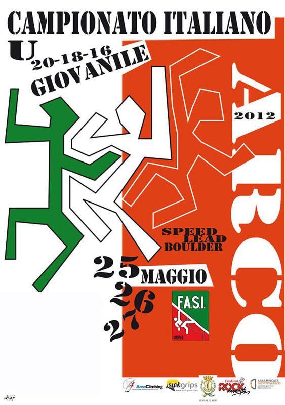 Dal 25 al 27 maggio 2012 ad Arco di Trento va in scena il Campionato Italiano Giovanile 2012 di arrampicata sportiva con le discipline Speed, Lead e Boulder., Campionato Italiano Giovanile