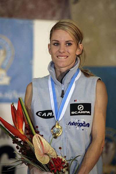 Maja Vidmar, winner of the World Cup Lead 2007, Urban Golob
