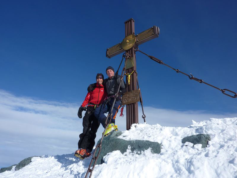 On the summit of Grossglockner, 3798m, Austria, Guide Alpine Gruppo Kals am Großglockner