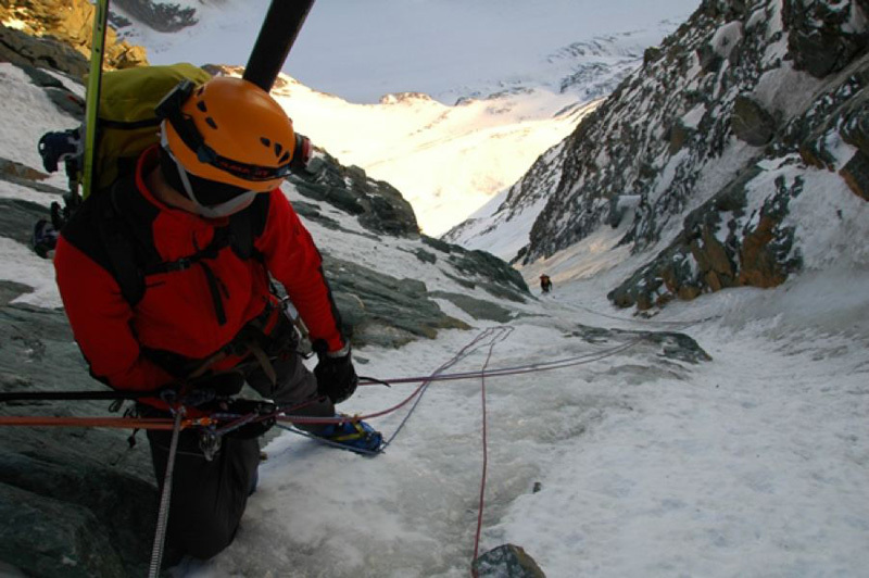 Grossglockner: Pallavicini, the final ice pitch, Guide Alpine Gruppo Kals am Großglockner