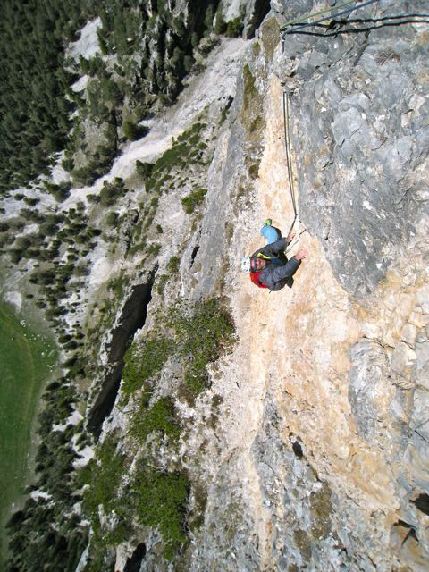 Gratta e Vinci, a new climb in the Dolomites freed by Christoph Hainz and Simon Kehrer on 14/05/2012,